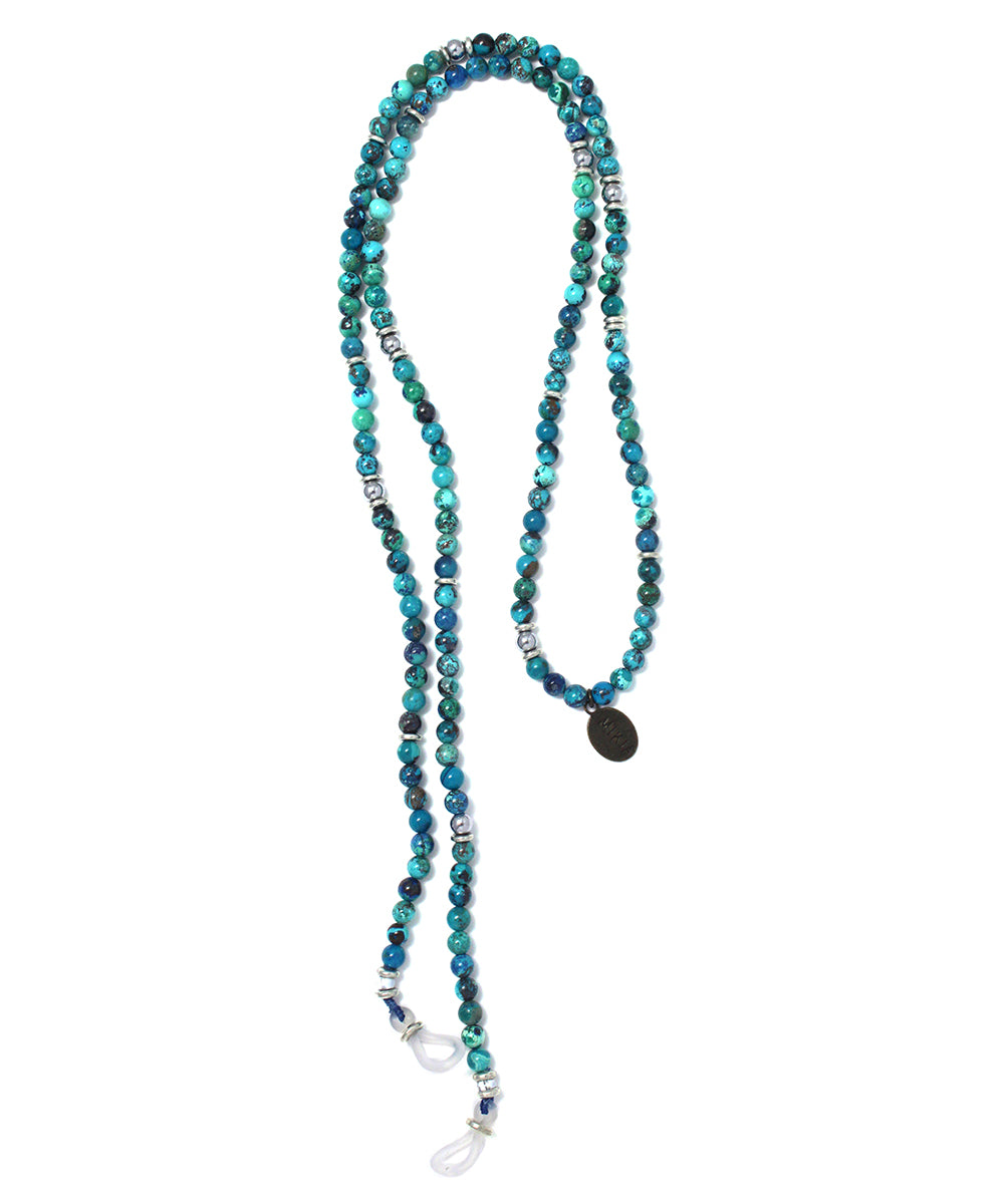 glass cord / chrysocolla