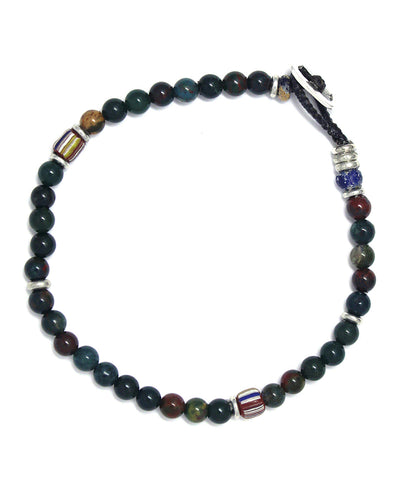 4mm blood stone bracelet