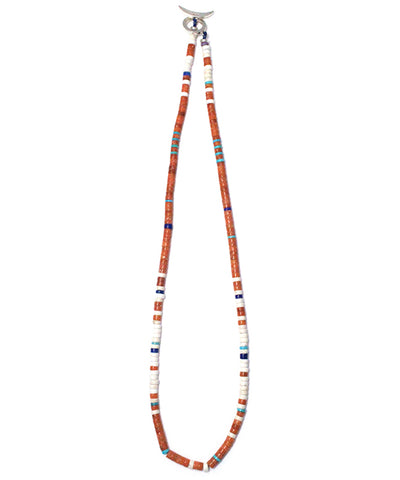 heishi necklace / coral