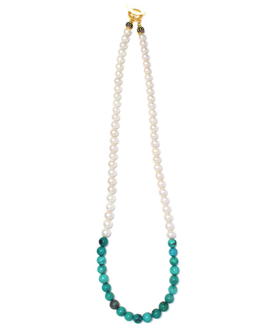 pearl / turquoise necklace