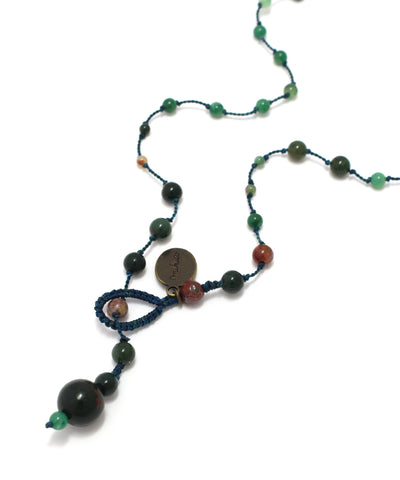 AIYANA bloodstone long necklace