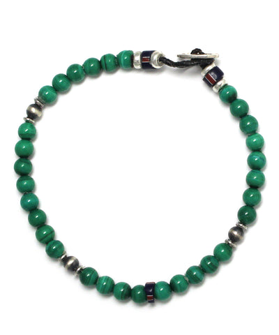 4mm stone bracelet / malachite