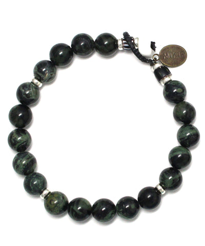 8mm stone necklace / kambaba jasper