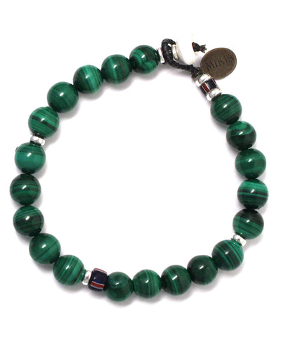 8mm stone bracelet / malachite