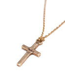 k10 gold cross necklace