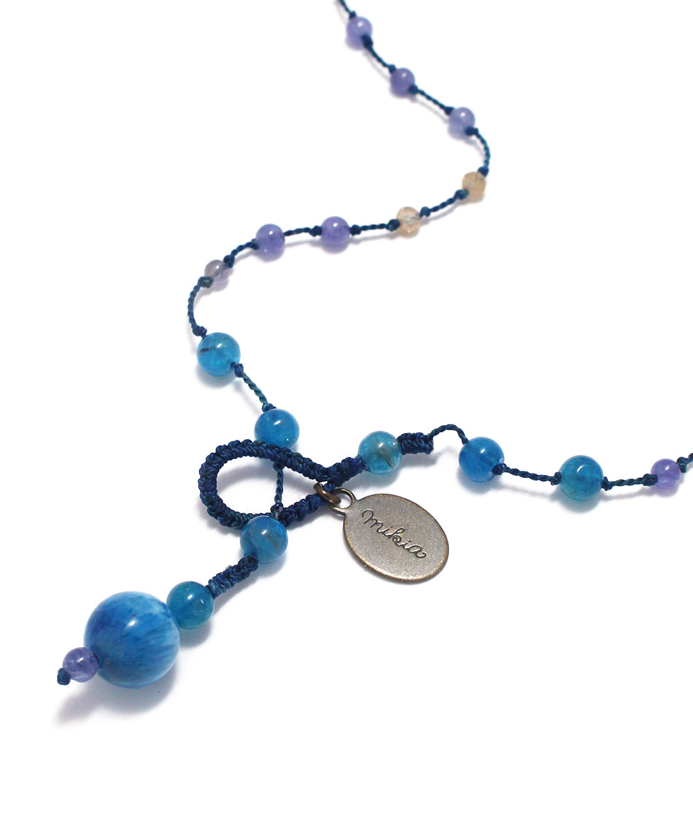 AIYANA tanzanite / blue apatite necklace
