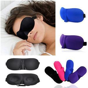 3D Sleeping Masks Eye Mask Soft Silk Lightweight Comfortable and Adjustable for Travel Nap