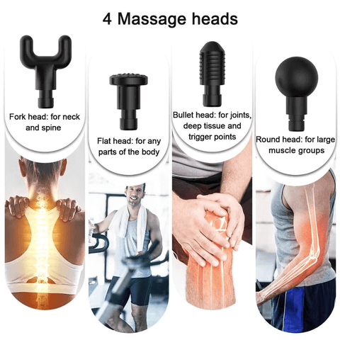 Image of Handheld Personal Muscle Massage Deep Tissue Massager Powerful Cordless Percussion Massage Gun Portable Massage Device