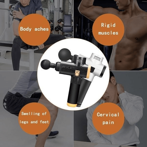 Handheld Personal Muscle Massage Deep Tissue Massager Powerful Cordless Percussion Massage Gun Portable Massage Device