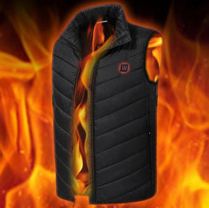 Electric Heated Vest for Women and Men, Washable USB Powered Heated Clothing Winter Warm Gilet for Motorcycle Skiing Snowmobile Bike Riding Hunting Golf