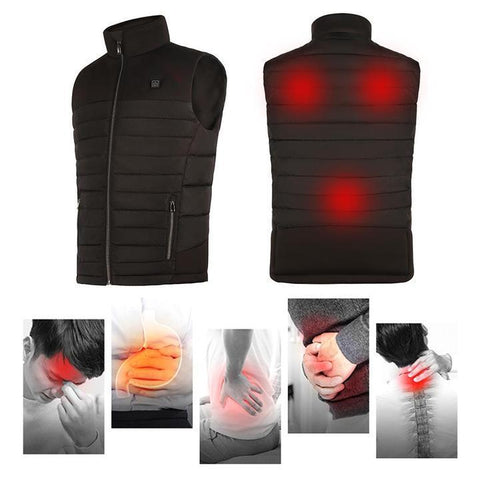 Image of Electric Heated Vest for Women and Men, Washable USB Powered Heated Clothing Winter Warm Gilet for Motorcycle Skiing Snowmobile Bike Riding Hunting Golf