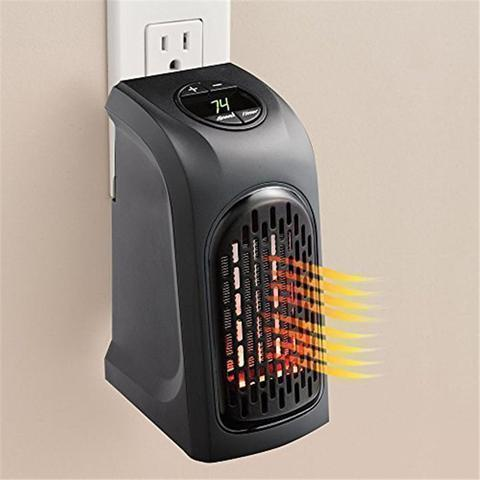 Mini Portable Space Heater, Fan Heater, Personal Air Warmer, Electric Plug-in Heaters with Programmable Timer, Energy Saving Indoor Heater for Home, Office