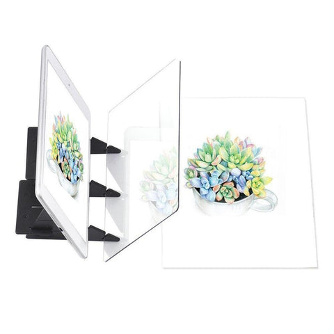 Image of Optical Drawing Tracing Board Portable Sketching Painting Tool Copy Pad No Overlap Shadow Mirror Image Reflection Projector
