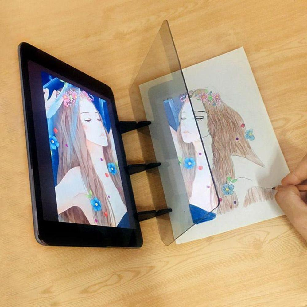 Optical Drawing Tracing Board Portable Sketching Painting Tool Copy Pad No Overlap Shadow Mirror Image Reflection Projector