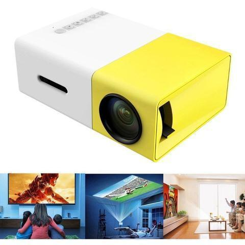 Mini Projector LED Portable Projector Home Theater Movie Video Multimedia Player for Outdoor Recreation Entertainment Venues