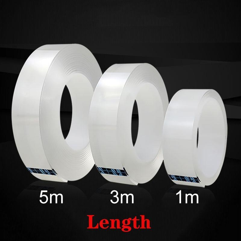 Nano Magic Tape Reusable Nano Adhesive Tape Clear Strong Double Sided Tape Removable Traceless Washable Nano Mounting Tape