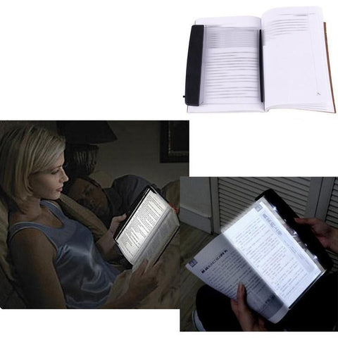 Image of LED Reading Light Warm White Brightness Adjustable for Eye-Protection, Portable Bookmark Light for Reading in Bed, Car