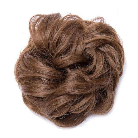 Image of Synthetic Hair Bun Extensions Messy Hair Scrunchies Hair Pieces for Women Hair Donut Updo Ponytail