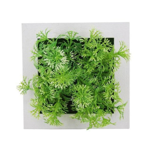 3D Creative Real Touch Plastic Plants Home Decoration Wall Hanger Plastic Frame Artificial Flower Living Room Wall Sticker Decor