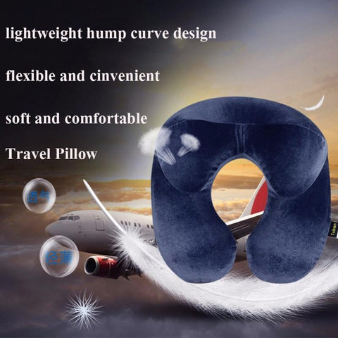 Image of U-SHAPE TRAVEL PILLOW WITH HEAD STABILIZATION