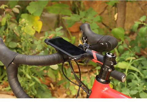 Image of Universal Silicone Bike Phone Holder Mobile Phone Holder for Bikes Road Bikes Mountain Bikes Scooters Pushchairs & Motorbikes