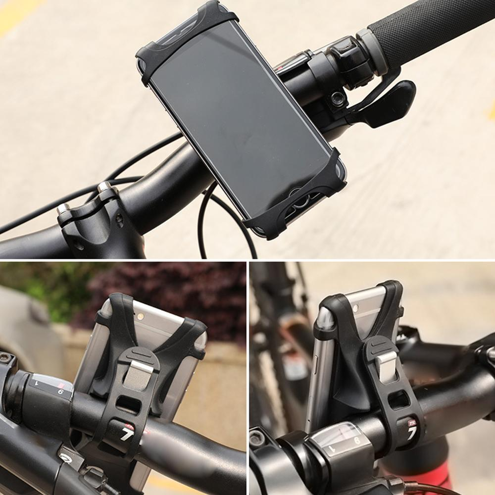 Universal Silicone Bike Phone Holder Mobile Phone Holder for Bikes Road Bikes Mountain Bikes Scooters Pushchairs & Motorbikes