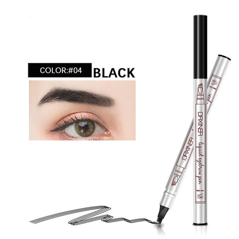 Eyebrow Tattoo Pen Waterproof Eyebrow Pencil, Lasting Smudge-proof Natural Looking Brows Effortlessly with a Micro-Fork Tip Applicator and Stays on All Day