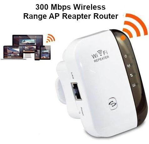 WiFi Extender Booster Mini Long Range Repeater Fast Speed Signal Amplifier with Ethernet Port WPS Function AP/Repeater Mode for Router Modem
