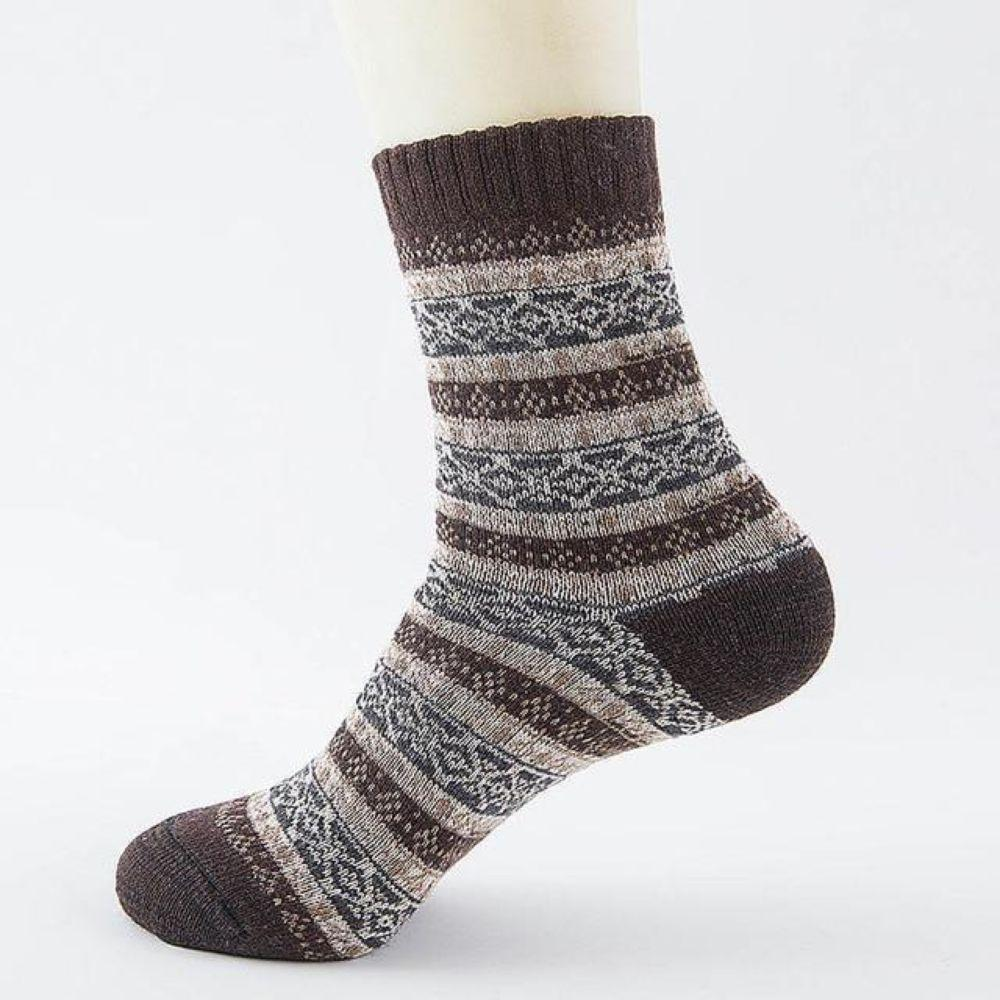 Women/Men Unisex Winter Knitting Thicken Warm Cotton Socks Thermal Socks for Outdoor Sports Leisure Walking Trekking Camping Gym