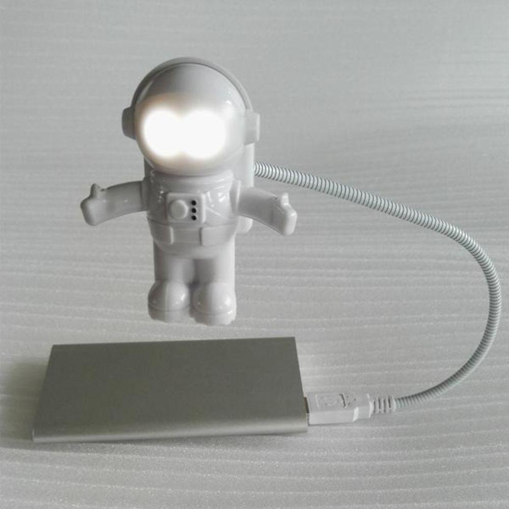USB Powered LED Night Light Flexible USB Tube Portable Spaceman Astronaut Night Light for Laptop PC Tablet Gift for Kids Students
