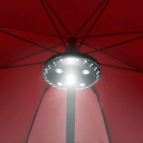 Image of Patio Umbrella Light 28 LED Parasol Lights Wireless Garden Light Battery Powered Pole Mounted Outdoor Balcony Umbrella Pole Lights