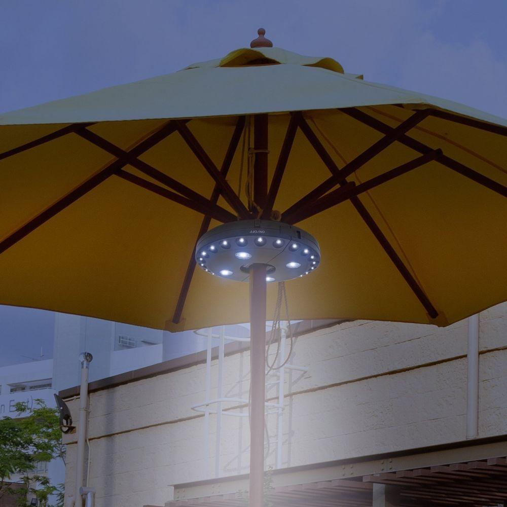 Patio Umbrella Light 28 LED Parasol Lights Wireless Garden Light Battery Powered Pole Mounted Outdoor Balcony Umbrella Pole Lights