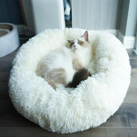 Pet Bed Dog Cat Round Warm Cuddler Soft Puppy Sofa Cushion Bed Sleeping Bag Orthopedic Relief Machine Washable
