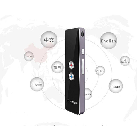 Image of Portable Real-time Multi-Language Voice Translator Device Bluetooth Smart Pocket Interpreter Support 30 Languages for Travel Meeting