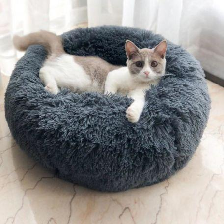 Image of Pet Bed Dog Cat Round Warm Cuddler Soft Puppy Sofa Cushion Bed Sleeping Bag Orthopedic Relief Machine Washable
