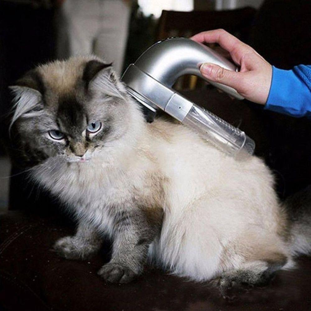 Pet Hair Fur Remover Portable Electric Massage for Cat Dog Pet Hair Fur Cleaner Shedding Grooming Brush Comb Vacuum Cleaner Trimmer