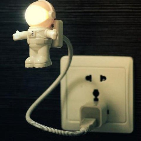 Image of USB Powered LED Night Light Flexible USB Tube Portable Spaceman Astronaut Night Light for Laptop PC Tablet Gift for Kids Students