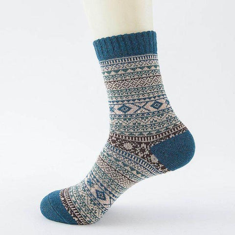Image of Women/Men Unisex Winter Knitting Thicken Warm Cotton Socks Thermal Socks for Outdoor Sports Leisure Walking Trekking Camping Gym