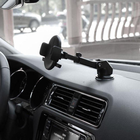 Image of Car Phone Holder Dashboard Windscreen Car Phone Mount with Washable Strong Suction Cup 360° Rotatable Extendable Arm