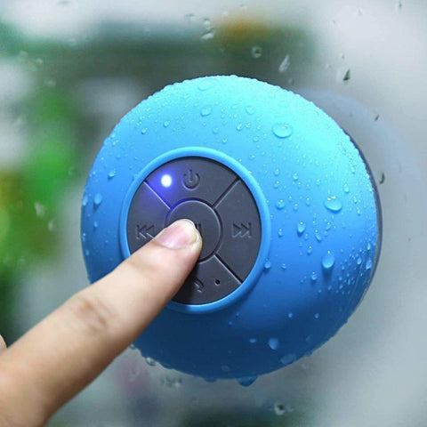 Image of Portable Waterproof Bluetooth Wireless Stereo Speakers with Suction Cup for Showers Bathroom