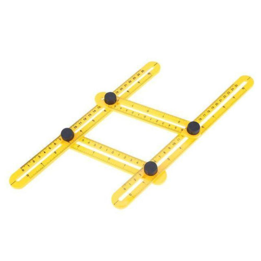 Template Tool Angle Measuring Tool Protractor Multi-Angle Ruler Layout Tool Ruler Adjustable Angle Finder for Builders Craftsmen