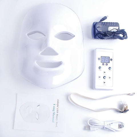 Image of Face Mask Facial Treatment LED Mask Beauty Facial Skin Care Mask For Anti-aging Firm Skin Improving Fine Lines Diminishing Acne Kit