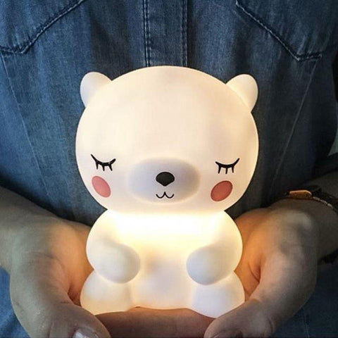 Image of Night Light Lamp Bear Panda Night LED Light for Baby Kids Room Bedside Bedroom Living Room Decorative Lighting Children Gift