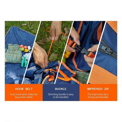 Image of Foldable Travel Bag Multifunction Picnic Mat Waterproof Outdoor Camping Mattress Mat Pad  Foldable Picnic Blanket Bag Beach Blanket