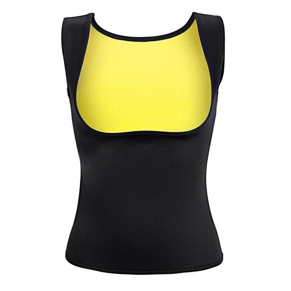 Women's Body Shaper Hot Sweat Waist Trainer Tank Top Slimming Vest Tummy Fat Burner Neoprene Shapewear for Weight Loss No Zipper