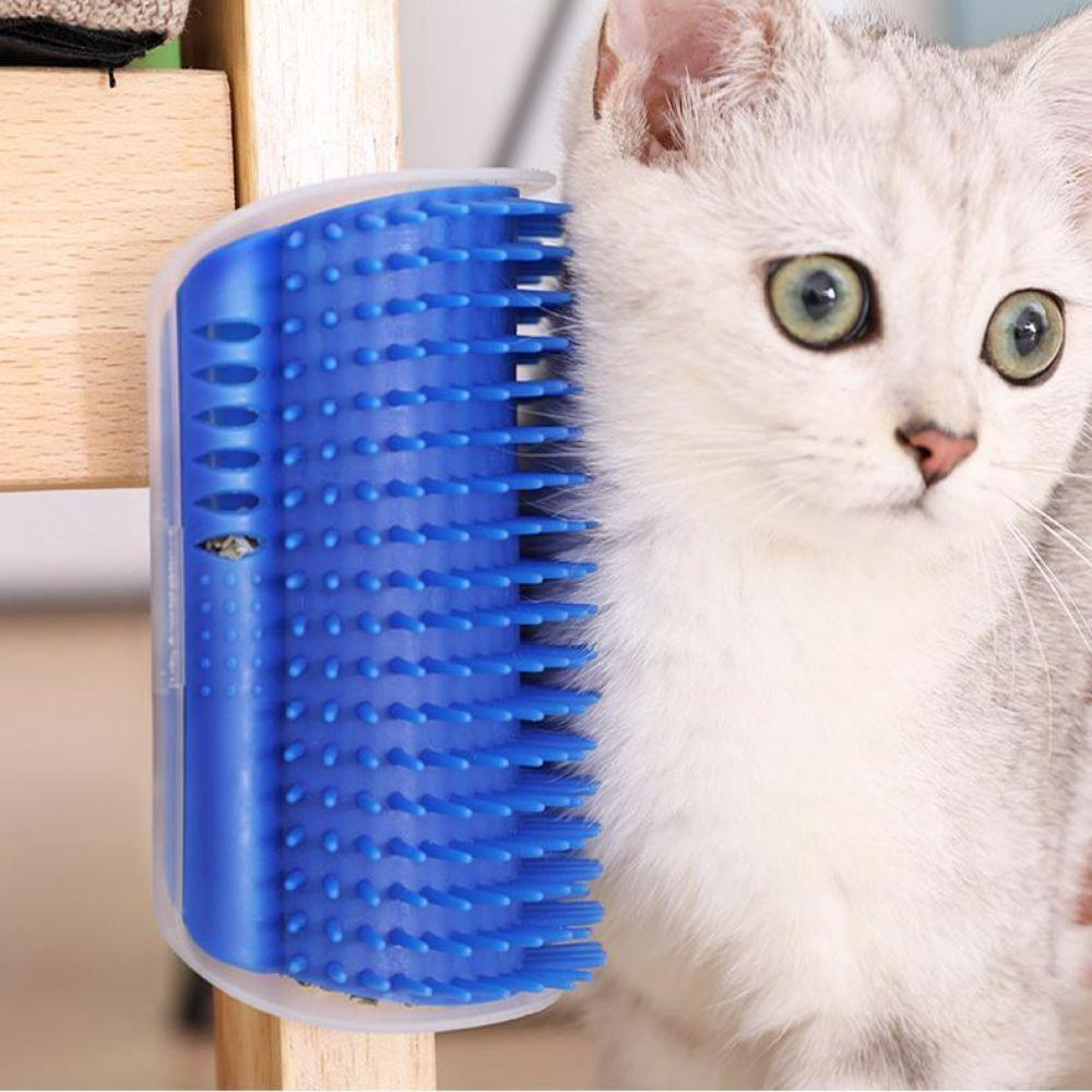 Cat Self Groomer Massage Brush Self-Grooming Comb Cat Wall Brush Pet Comb Hair Removal Brush Perfect for Cat with Long and Short Fur
