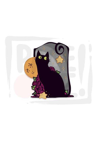 Sticker Gato Luna