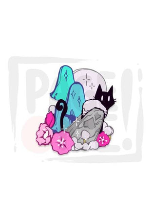 Sticker Gato Polilla