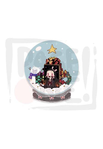 Sticker Merry Christmas Nezuko