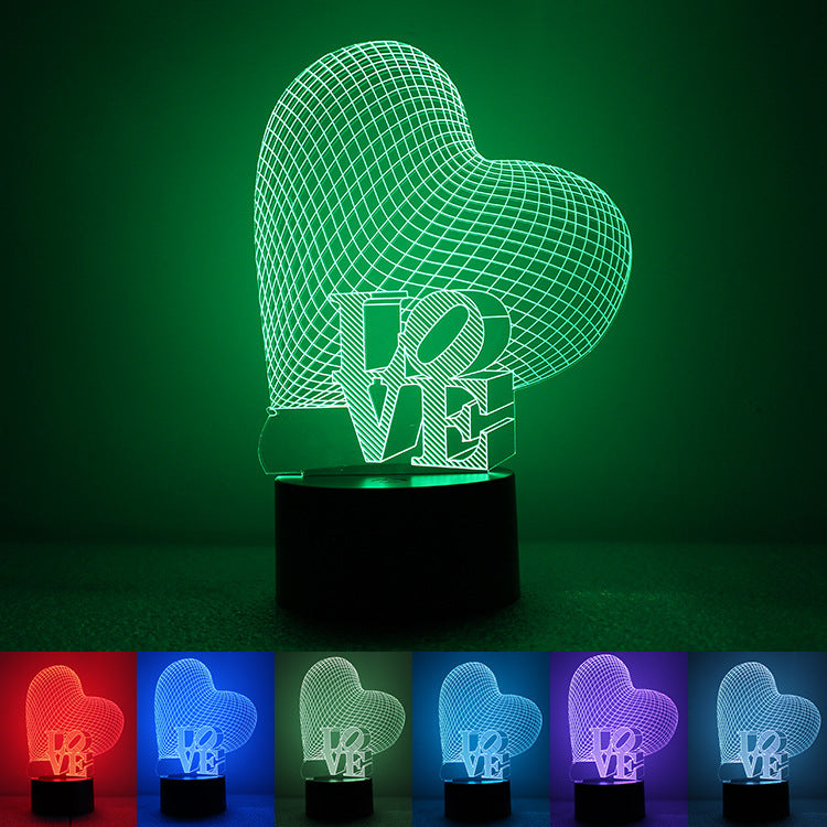 Touch 3d visual stereo colorful night light